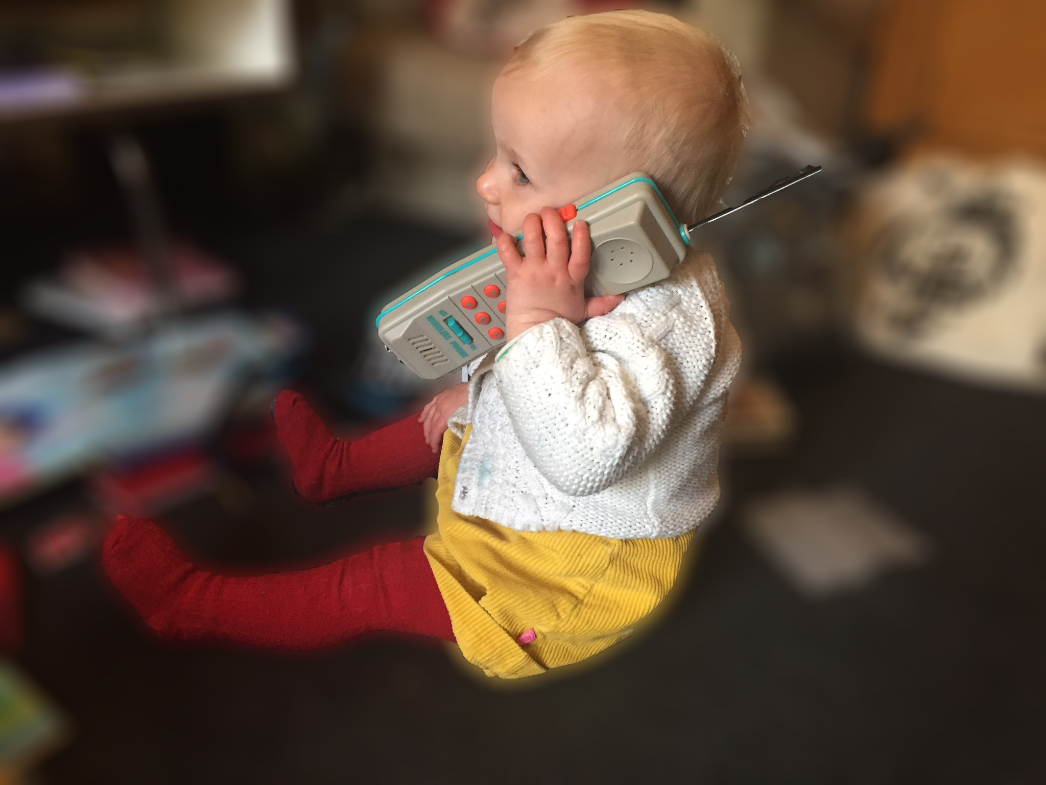 Elsa on the phone