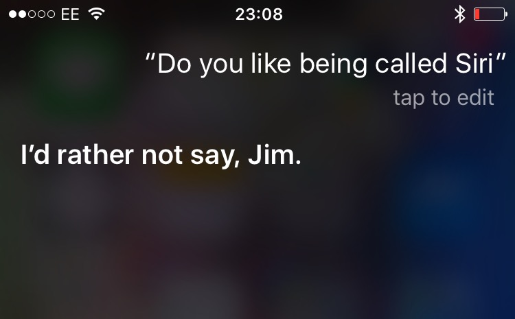 Siri doesn't like its name
