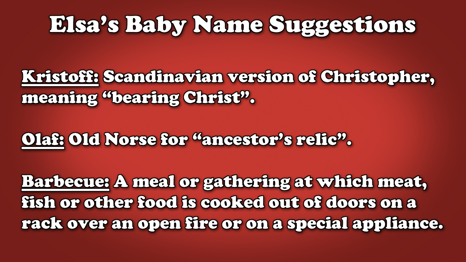 Baby Name Suggestions