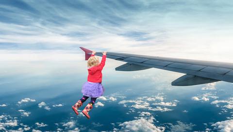 Elsa on a Plane