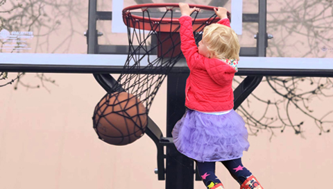 Elsa Playing Basketball