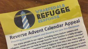 Reverse Advent Calendar - Wharfedale Refugee Response