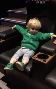 child's first cinema trip