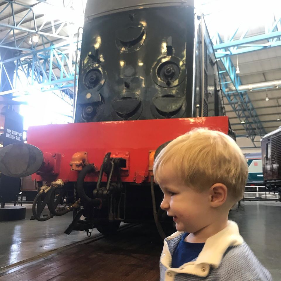 Seth at the National Rail Museum in York