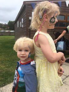 Elsa and Seth at the Kirklees Light Railway Thomas Event
