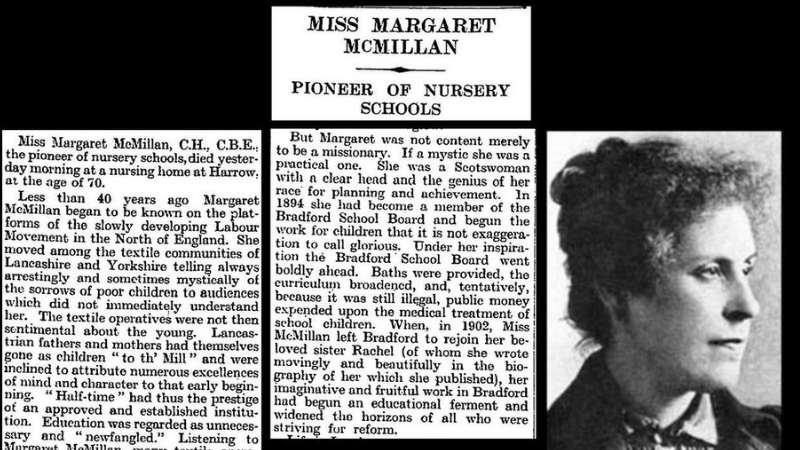 Margaret McMillan - Bradford History